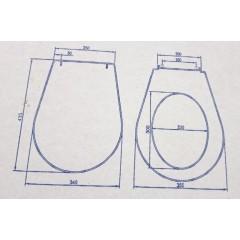 ALCAPLAST - SET Renovmodul - predstenový inštalačný systém + tlačidlo M1721 + WC CERSANIT ARTECO CLEANON + SEDADLO (AM115/1000 M1721 AT2)