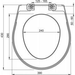 ALCAPLAST - A 3551 WC sedátko bílé (T 3551) A3551 (A3551)