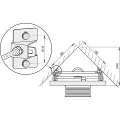Alcaplast adaptér pro upevnění rámu do rohu M918