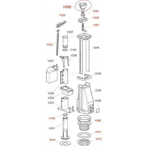 Alcaplast V087 -čep tlačítka A04 , A08 (V0087-ND)