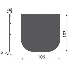 Alcaplast Čelo pro zaslepení konce žlabu AVZ-P009 (AVZ-P009)