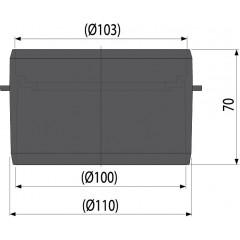 Alcaplast Hrdlo pro napojení na spodní odpad DN 110 AVZ-P001 AVZ-P001