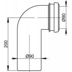 Alcaplast Koleno odpadu komplet 90/90 k A101, A102 (M908)