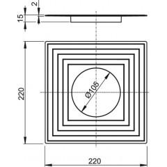 Alcaplast Límec 2. úrovně izolace pr.105 APV0003