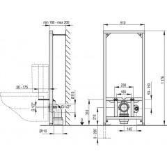 Alcaplast Montážní rám pro závěsné WC kombi (A113/1200)
