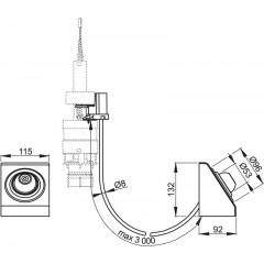 Alcaplast Oddálené pneumatické splachování nožní na zeď kov MPO13