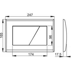 Alcaplast ovládací deska M171 chrom-lesklá (M171)