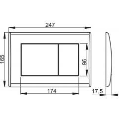 Alcaplast ovládací deska M271 chrom-lesklá M271