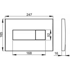 Alcaplast ovládací deska M370 bílá M370