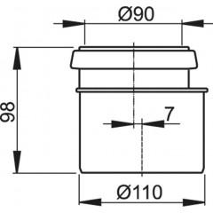 Alcaplast PE redukce komplet d90/110 pro WC modul A101, A102 (M907)
