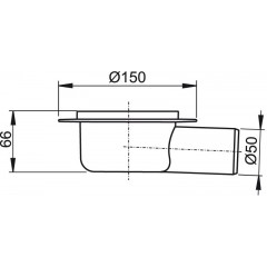 Alcaplast Podlahová vpust 50 boční tělo APV7000