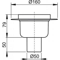 Alcaplast Podlahová vpust 50 přímá tělo APV6000