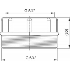 """Alcaplast Sifonová redukce Š6/4""""x M5/4"""" vně 6/4""""/vni 5/4"""" (S0556-ND)"""