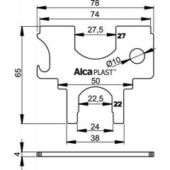 Alcaplast S036 universální klíč k vanič. a van.kov sifonům S036