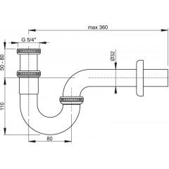 Alcaplast Sifon bidetový pr.32 kov (A45E)