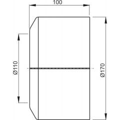 Alcaplast WC rozeta velká DN110 dělená krycí růžice bílá A980