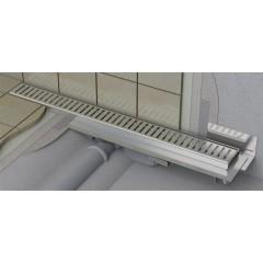 Alcaplast APZ104-650-LOW podlahový žlab ke zdi v.55mm SNÍŽENÝ min. 700mm kout APZ104-650