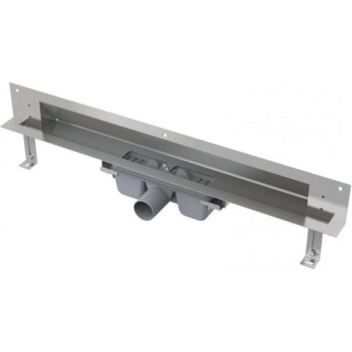 Alcaplast APZ5-TWIN-1050 podlahový žlab do zdi-pro obkladkout min. 1100mm SPA APZ5-TWIN-1050