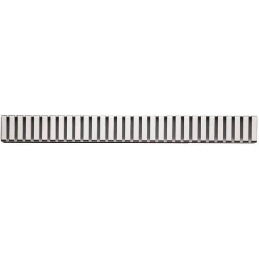 Alcaplast LINE-100L rošt podlahového žlabu lesklý 10cm doplněk roštu APZ1 (LINE-100L)