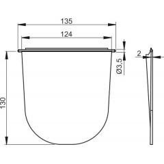 Odkvapová klapka do odkvapovej vpustu čiernej ALCAPLAST plast AGV930 AGV930
