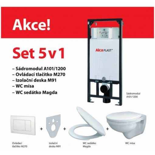 ALCAPLAST set ALCAmísa 5v1 AM101/1120,M1710,M91/sedátko/mísa (Sádromodul) A101SET5V1 (A101SET5V1)