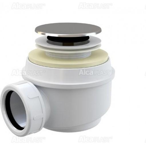 Alcaplast sifon pro sprchové vaničky 50mm chrom A466-50 click/clack (výška 72mm) A466-50