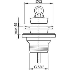 """Sifonová vpusť 5/4""""x63mm nerez vršek ALCAPLAST plast A31 A31"""