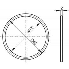 Těsnění dvoukomponentní do 6/4 matky 45x40x2 pro flexi sifony ALCAPLAST A7991 (A7991)
