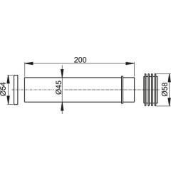 Těsnění přívodu + vývodka A100 + vrapová vložka 45x58x25 ALCAPLAST M901 (M901)