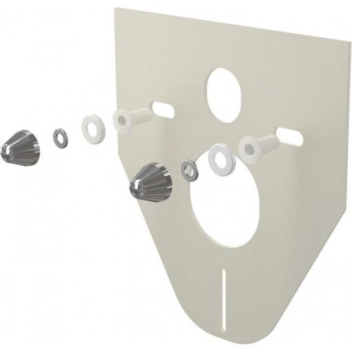 ALCAPLAST - Tlumící izolační deska záv.WC,bidet, CHROM krytky a průchodky, zkosená M910CR M910CR