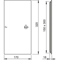 Vanová dvířka 150x300 bílá ALCAPLAST AVD002 (AVD002)