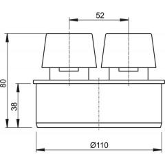 Ventilační klapka 110 - přivzdušňovací hlavice ALCAPLAST APH110 (APH110)