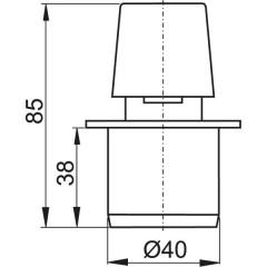 Ventilační klapka 40 - přivzdušňovací hlavice ALCAPLAST APH40 (APH40)