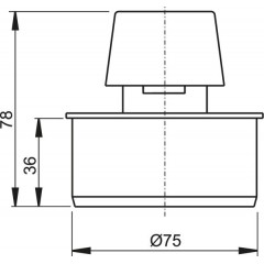 Ventilační klapka 75 - přivzdušňovací hlavice ALCAPLAST APH75 (APH75)