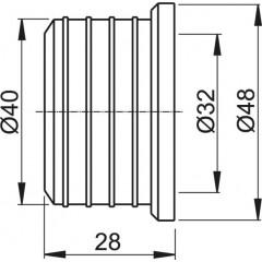 Vrapová vložka 40/32 ALCAPLAST (gumová redukce) Z0003-ND (Z0003-ND)