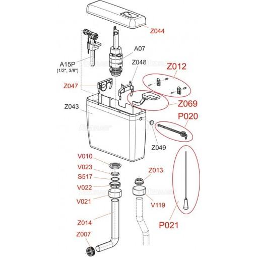 WC manžeta vrapová 50/32 Z0013-ND,pro WC nádrž A93,A94 ALCAPLAST Z0013-ND (Z0013-ND)