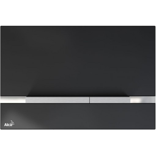 Alcaplast STRIPE sklo-černá, ovládací deska tlačítko, pro předstěnové instalační systémy STRIPE-GL1204