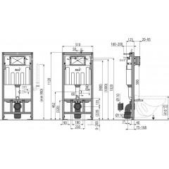 Alcaplast modul do sádrokartonu s odvětráním AM101/1120V pro suchou instalaci výška 1,2m AM101/1120V