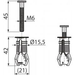 Alcaplast Hmoždinka pro vrchní montáž sedátka, pro panty P106, P106B pár (P113)