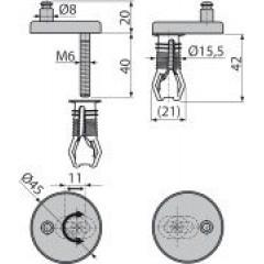 Alcaplast Panty s vrchní montáží, krytka nerez P105