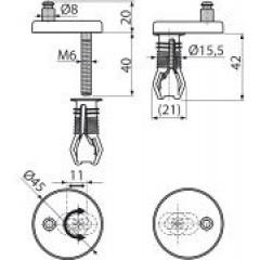 Alcaplast Panty s vrchní montáží, krytka plast P105B