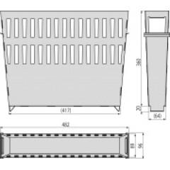 Alcaplast Koš na nečistoty velký nerez, pro venkovní žlabovou vpust AVZ-P012