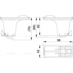 Alcaplast Sada kombinovaných zápachových uzávěr pro nerezové žlaby Alcaplast P095 P095