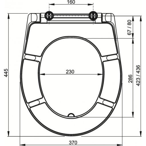 WC sedátko Duroplast A601 pergamon ALCAPLAST A601 PERGAMON (A601 PERGAMON)