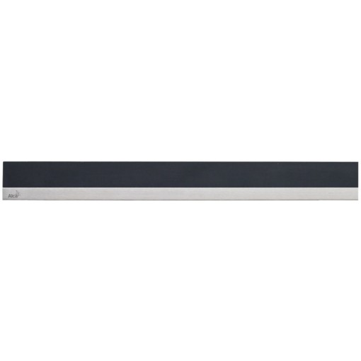 Alcaplast MINERAL POSH Rošt pro liniový podlahový žlab syntetický kámen černý  nerez mat MP1205-750