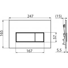 Alcaplast ovládací deska M570 bílá, THIN tloušťka 5,5 mm M570