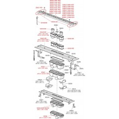 Alcaplast Podlahový žlab 650mm antivandal s roštem BUBLE lesklý APZ11-650L APZ11-650L
