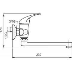 NOVASERVIS - Umyvadlová dřezová baterie 100 mm Metalia 55 chrom 55177,0