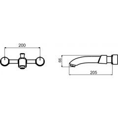 NOVASERVIS - Umyvadlová baterie podomítková Metalia 57 chrom 57201,0