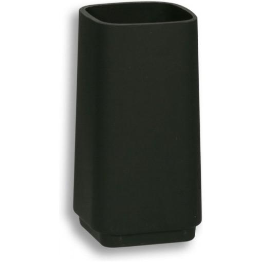 NOVASERVIS - Sklo WC štětky černé sklo matované 6433,5XS
